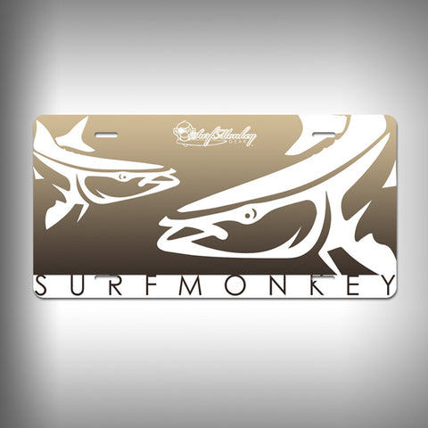 Cobia Custom License Plate / Vanity Plate with Custom Text and Graphics Aluminum - SurfmonkeyGear