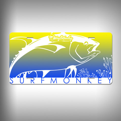 Tuna Custom License Plate / Vanity Plate with Custom Text and Graphics Aluminum - SurfmonkeyGear