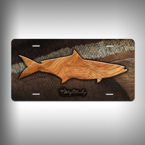 Cobia Trophy License Plate / Vanity Plate with Custom Text and Graphics Aluminum - SurfmonkeyGear