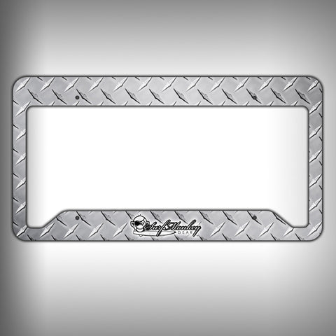 Diamond Plate Custom Licence Plate Frame Holder Personalized Car Accessories - SurfmonkeyGear