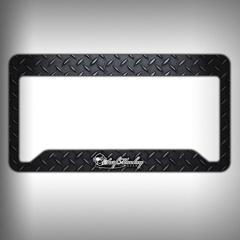 Dark Diamond Plate Custom Licence Plate Frame Holder Personalized Car Accessories - SurfmonkeyGear