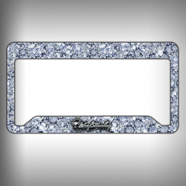 Big Diamonds Custom Licence Plate Frame Holder Personalized Car ...
