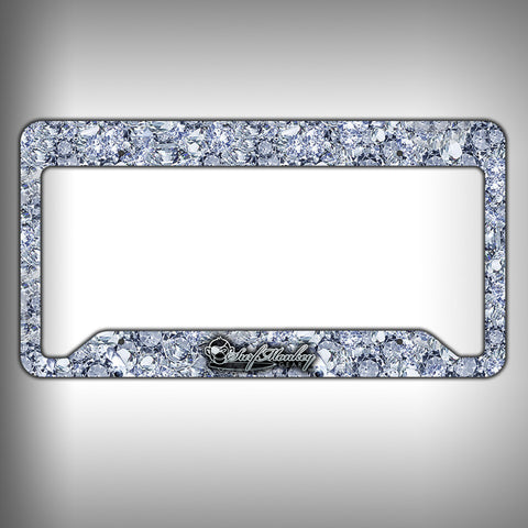 Big Diamonds Custom Licence Plate Frame Holder Personalized Car Accessories - SurfmonkeyGear