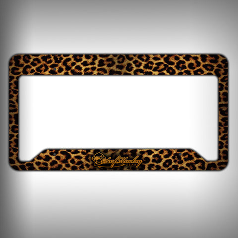 Leopard Custom Licence Plate Frame Holder Personalized Car Accessories - SurfmonkeyGear