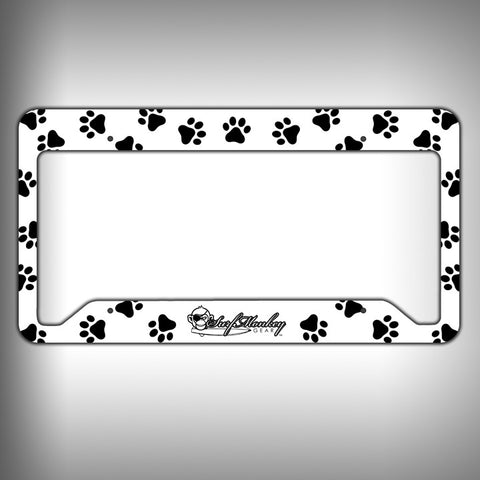 Paw Print Custom Licence Plate Frame Holder Personalized Car Accessories - SurfmonkeyGear