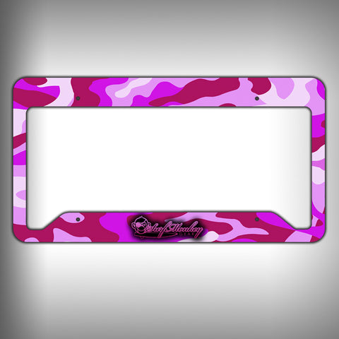 Pink Camo Custom Licence Plate Frame Holder Personalized Car Accessories - SurfmonkeyGear