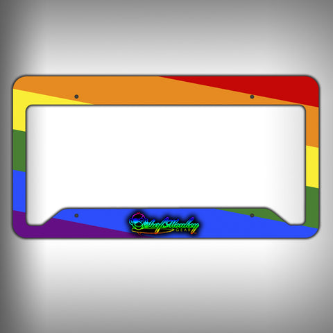 Rainbow Custom Licence Plate Frame Holder Personalized Car Accessories - SurfmonkeyGear