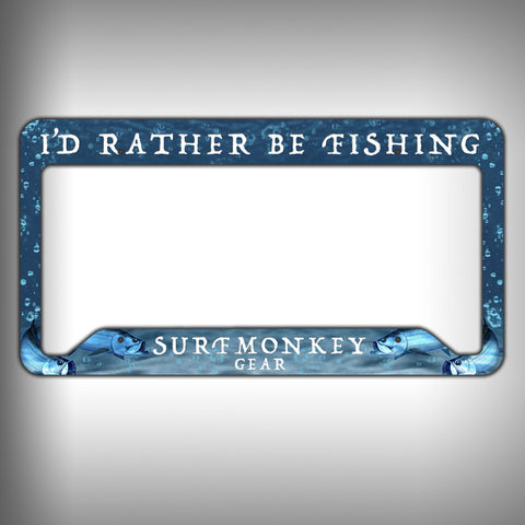 Rather be Fishing Custom Licence Plate Frame Holder Personalized Car Accessories - SurfmonkeyGear