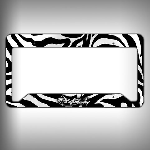 Zebra Print Custom Licence Plate Frame Holder Personalized Car Accessories - SurfmonkeyGear