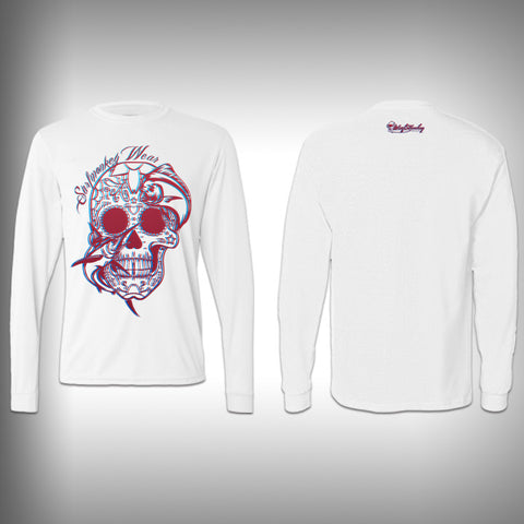 3D - Sugar Skull Mahi - Performance Shirt - Fishing Shirt - SurfmonkeyGear  - 1