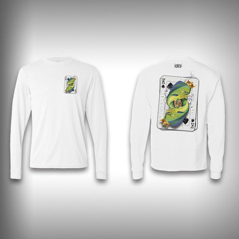King of Spades Mahi - Poker - Solar Performance Long Sleeve Shirts - Fishing Shirt - SurfmonkeyGear