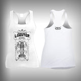 Vintage Mobster Lobster - Womens Tank Top - SurfmonkeyGear  - 1