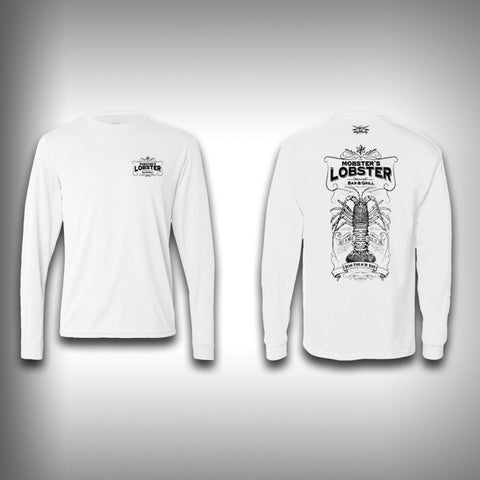 Vintage Lobster - Solar Performance Long Sleeve Shirts - Fishing Shirt - SurfmonkeyGear