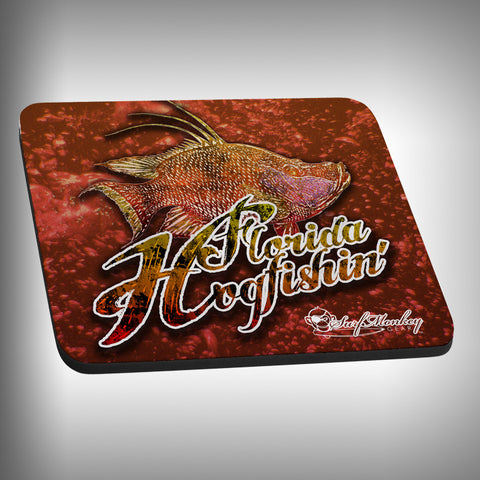 Florida Hog Fishing Mouse Pad with Custom Graphics - SurfmonkeyGear