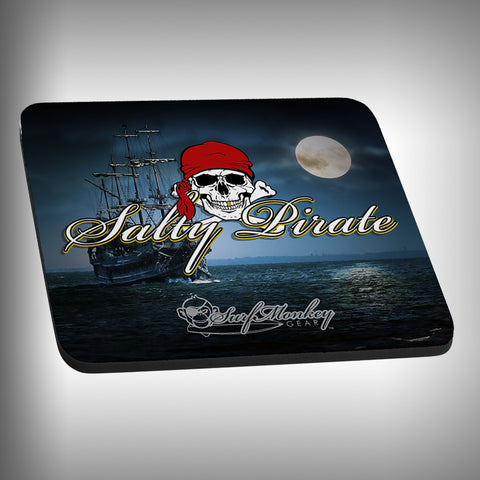 Salty Pirate Mouse Pad with Custom Graphics - SurfmonkeyGear
