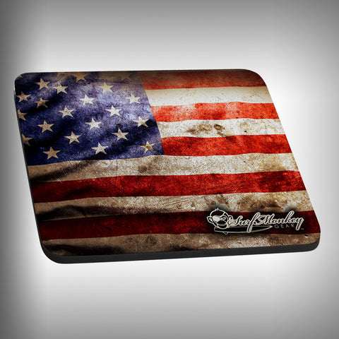 USA Flag Mouse Pad with Custom Graphics - SurfmonkeyGear