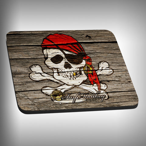 Wooden Pirate Mouse Pad with Custom Graphics - SurfmonkeyGear