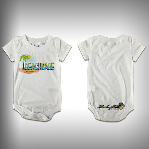 Monksies™ Custom Print One Piece Baby Body Suit (Onsies) - Beach Babe - SurfmonkeyGear