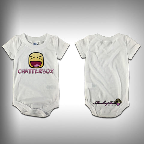 Monksies™ Custom Print One Piece Baby Body Suit (Onsies) - Chatter Box - SurfmonkeyGear