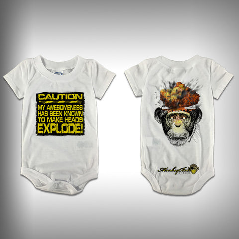 Monksies™ Custom Print One Piece Baby Body Suit (Onsies) - Chimplosion - SurfmonkeyGear