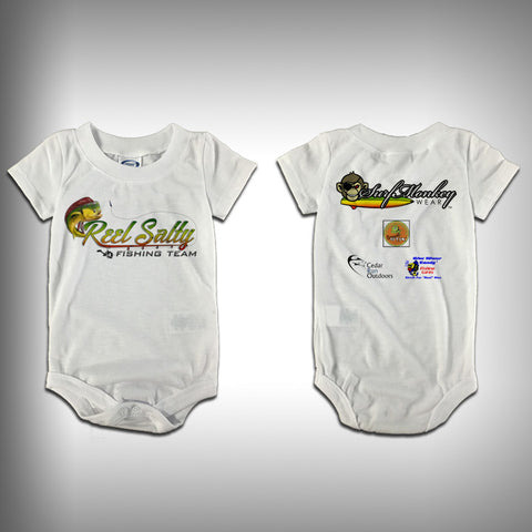 Monksies™ Custom Print One Piece Baby Body Suit (Onsies) - Reel Salty - SurfmonkeyGear