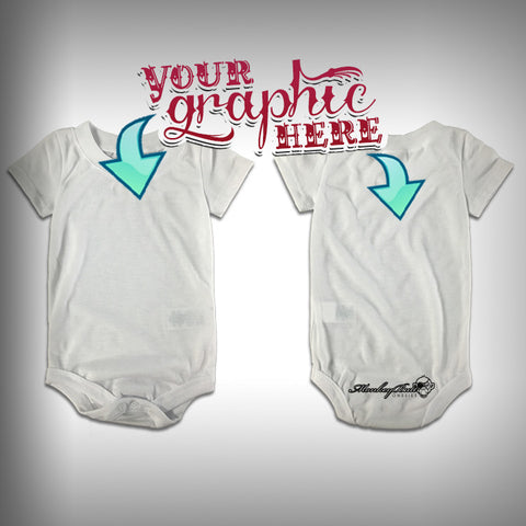 Monksies™ Custom Print One Piece Baby Body Suit (Onsies) - Custom - SurfmonkeyGear