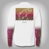 Rainbow Trout Scale Sleeve Shirt -  SurfMonkey - Performance Shirts - Fishing Shirt