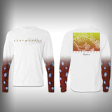Grouper Scale Sleeve Shirt -  SurfMonkey - Performance Shirts - Fishing Shirt - SurfmonkeyGear