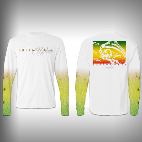 Mahi Fish Scale Sleeve Shirt -  SurfMonkey - Performance Shirts - Fishing Shirt - SurfmonkeyGear
