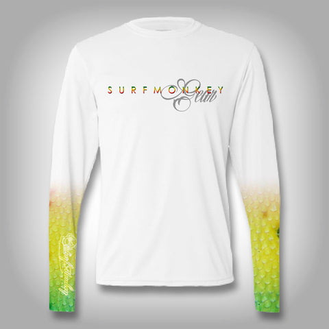 Mahi Fish Scale Sleeve Shirt -  SurfMonkey - Performance Shirts - Fishing Shirt