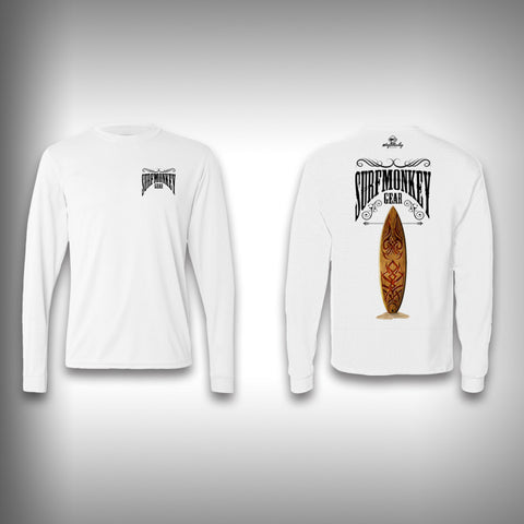 Retro Surfboard - Performance Shirts - Fishing Shirt - Surfing Shirt - SurfmonkeyGear  - 1