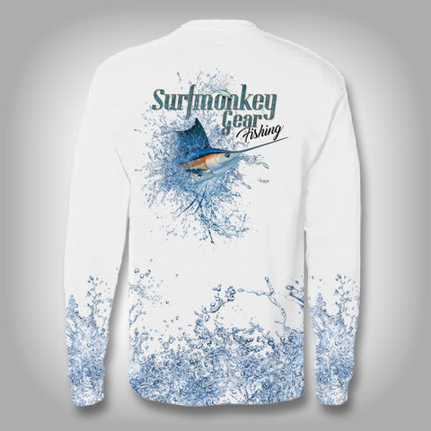Sailfish Explosion -Solar Performance Long Sleeve Shirts - Fishing Shirt