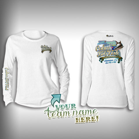 Cobia Big Fish Tournament Team Shirt Womens -  SurfMonkey - Performance Shirts - Fishing Shirt - SurfmonkeyGear  - 1