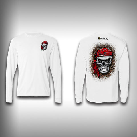Skull Pirate  - Performance Shirts - Fishing Shirt - SurfmonkeyGear  - 1