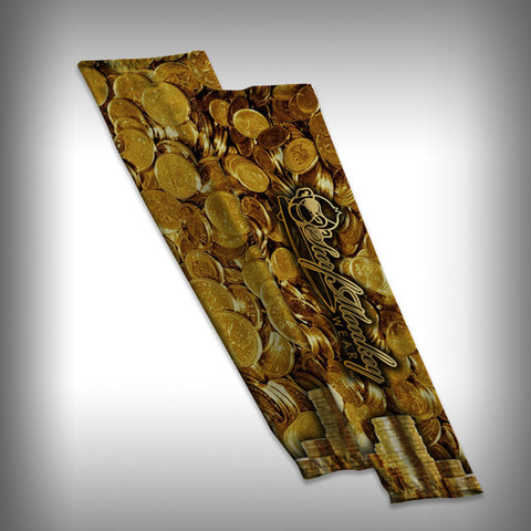 Gold Coins Compression Sleeve Arm Sleeve - SurfmonkeyGear
