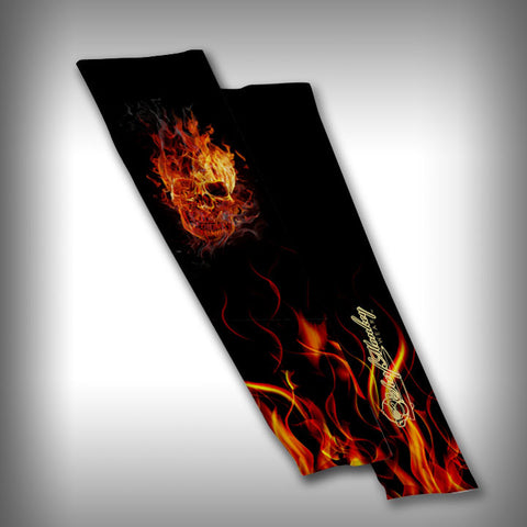 Burning Skull Compression Sleeve Arm Sleeve - SurfmonkeyGear