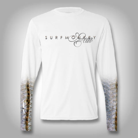 Snook Scale Sleeve Shirt -  SurfMonkey - Performance Shirts - Fishing Shirt
