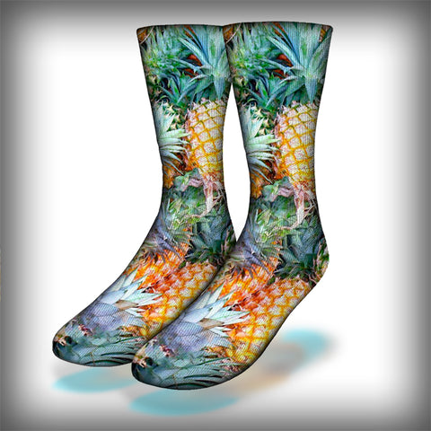 Pineapples Crew Socks Novelty Streetwear