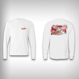 Spiny Lobster Dive Flag - Performance Shirt - Fishing Shirt - SurfmonkeyGear  - 1