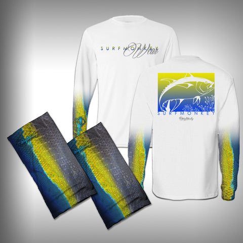 Fish Scale Sleeve Performance Shirt And Matching Face