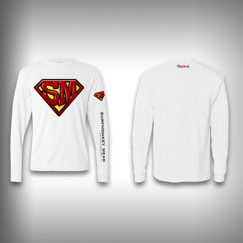 Super Monkey - Super Man  - Performance Shirts - Fishing Shirt - SurfmonkeyGear  - 1
