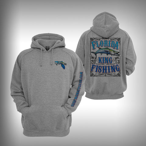 Florida Kingfishing Graphic Hoodie Sweatshirt - SurfmonkeyGear