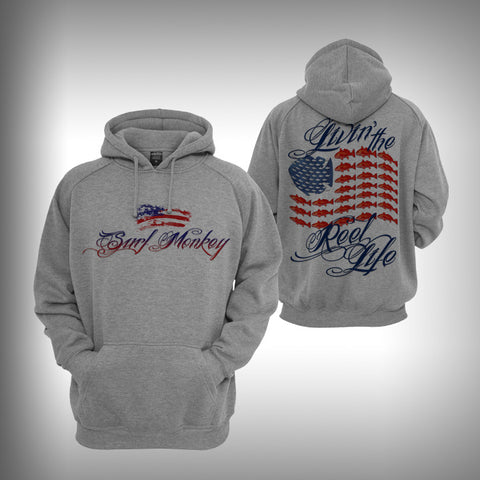 Graphic Hoodie Sweatshirt - Reel Life - SurfmonkeyGear