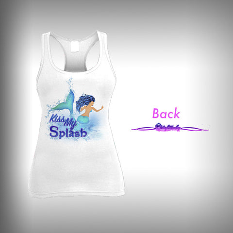 Kiss my Splash - Womens Tank Top - SurfmonkeyGear  - 1