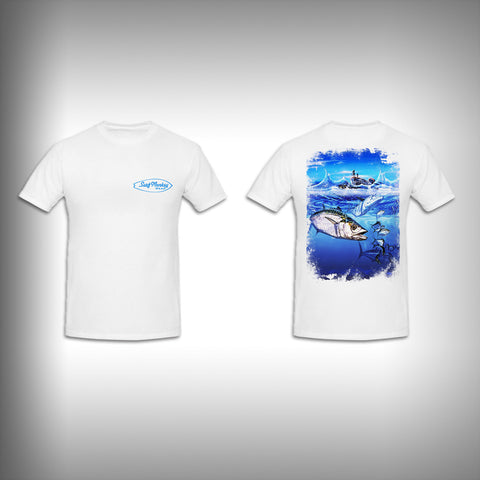 Unisex Short Sleeve Tshirt Custom Full Color Graphics - King Fishing - SurfmonkeyGear
