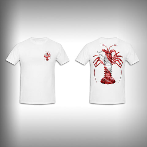 Unisex Short Sleeve Tshirt Custom Full Color Graphics - Spiny Lobster Dive - SurfmonkeyGear