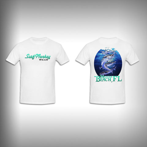 Unisex Short Sleeve Tshirt Custom Full Color Graphics - Madeira Beach King Fish - SurfmonkeyGear