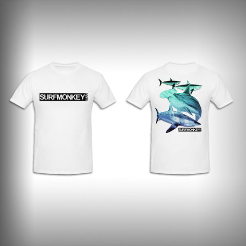 Unisex Short Sleeve Tshirt Custom Full Color Graphics - Shark Life - SurfmonkeyGear