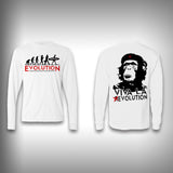Viva La Evolution Monkey - Performance Shirt - Fishing Shirt - SurfmonkeyGear  - 1