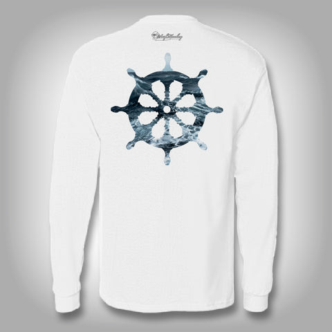 Surfmonkey OceanWear™ Performance Solar Shirt - Ship Wheel